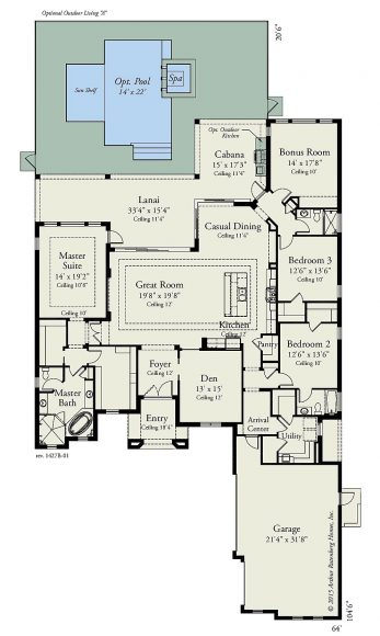 Arthur Rutenberg Homes - Avila 1427B - Floor Plan